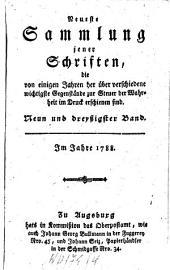 Neueste Sammlung jener Schriften, die von einigen Jahren her über verschiedene wichtige Gegenstände zur Steuer der Wahrheit im Drucke erschienen sind: Band 39
