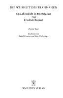 Die Weisheit des Brahmanen PDF