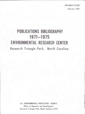 Publications Bibliography 1971-1975 Environmental Research Center