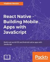React Native   Building Mobile Apps with JavaScript PDF