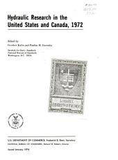 Hydraulic research in the United States and Canada, 1972