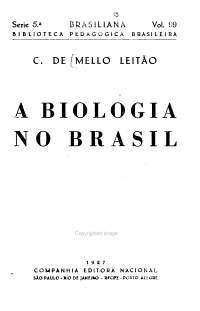 A biologia no Brasil PDF