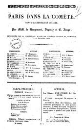 Paris dans la comete revue-vaudeville en un acte par MM. de Rougemont, Dupeuty et E. Arago