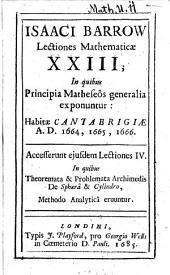 Lectiones Mathematicae