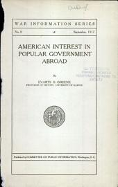 American interest in popular government abroad