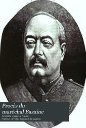 Procès du maréchal Bazaine: rapport, audiences du premier Conseil de guerre : compte rendu