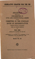 Legislative Charter for the FBI PDF