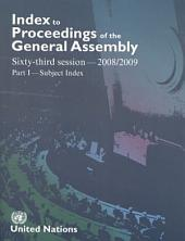 Index to Proceedings of the General Assembly 2008/2009: Subject Index