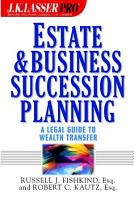 Estate and Business Succession Planning PDF
