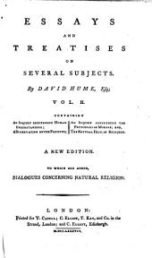 An inquiry concerning human understanding. A dissertation on the passions. An inquiry concerning the principles of morals. The natural history of religion