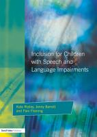 Inclusion for Children with Speech and Language Impairments PDF