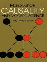 Causality and Modern Science PDF
