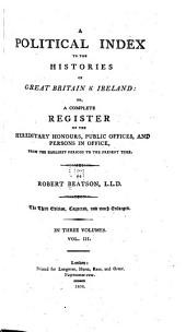 A Political Index to the Histories of Great Britain & Ireland: Volume 3