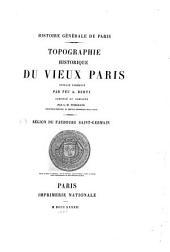 Topographie historique du vieux Paris: Volume4