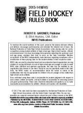 2013 NFHS Field Hockey Rules