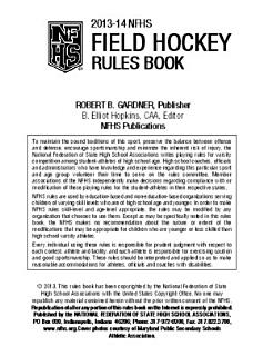 2013 NFHS Field Hockey Rules Book