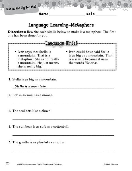 The One and Only Ivan Language Learning Activities