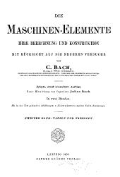 Die maschinen-Elemente: Tafeln und Tabellen