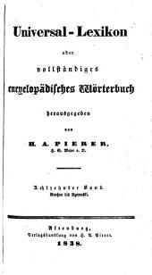 Universal-lexikon, oder Vollständiges encyclopädisches wörterbuch: Band 18