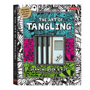 The Art of Tangling Drawing Book   Kit