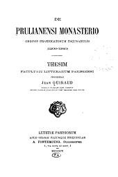De Prulianensi Monasterio Ordinis Praedicatorum incunabulis (1206-1340)
