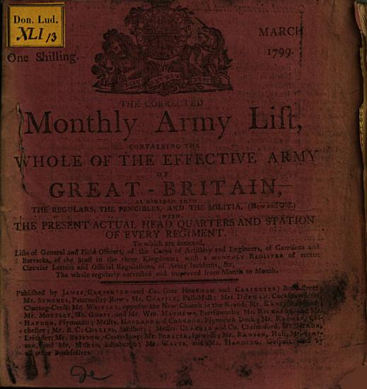 The Corrected Monthly Army List Containing the Whole of the Effective Army of Great Britain PDF