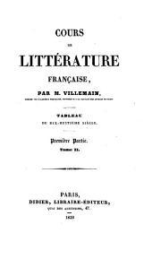 Cours de littérature française: Tableau du dix-huitième siècle, Volume2