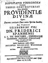 Diss. continens theses controversas circa articulum providentiae divinae