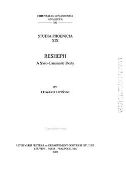 Resheph PDF