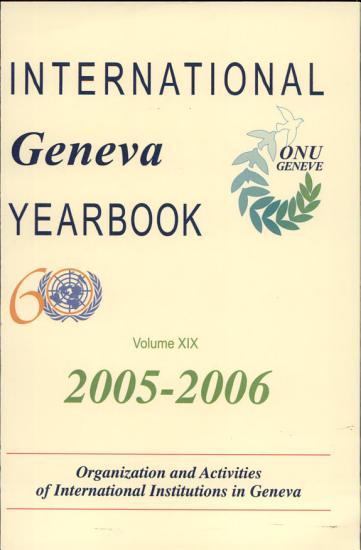 International Geneva Yearbook 2005 2006  Organization and     PDF