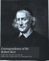 Correspondence of Sir Robert Kerr: Volume 2