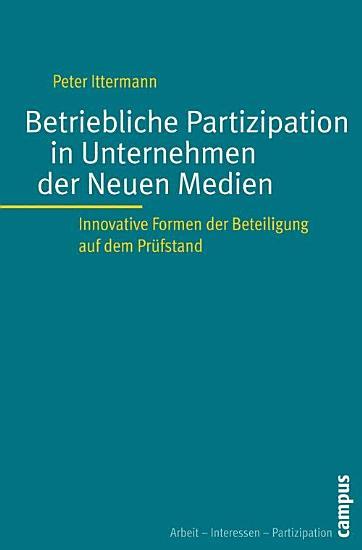 Betriebliche Partizipation in Unternehmen der Neuen Medien PDF