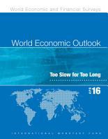 World Economic Outlook  April 2016 PDF