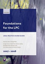Foundations for the LPC 2007 2008 PDF