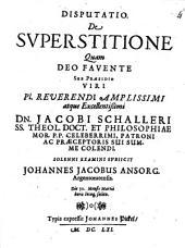 Disp. de superstitione