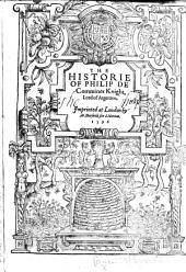 The Historie of Philip de Commines. [Translated from the French by Thomas Danett.]