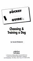 The Pocket Idiot s Guide to Choosing and Training a Dog PDF