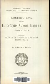 Studies of tropical American ferns: Issue 5
