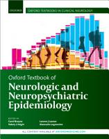 Oxford Textbook of Neurologic and Neuropsychiatric Epidemiology PDF