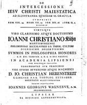 De intercessione Jesu Christi maiestatica ...