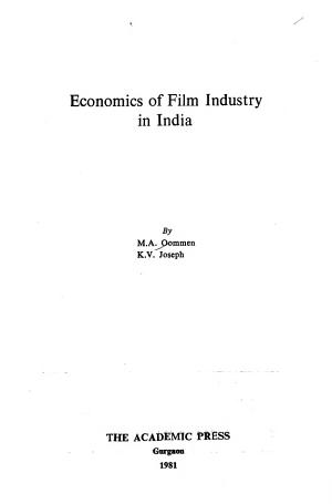 Economics of Film Industry in India