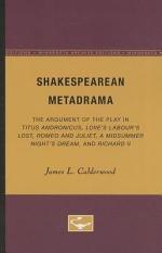 Shakespearean Metadrama
