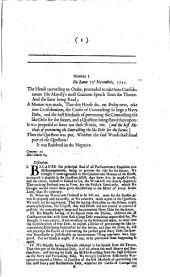 A Compleat Collection of the Protests of the Lords During this Last Session of Parliament: Volume 6