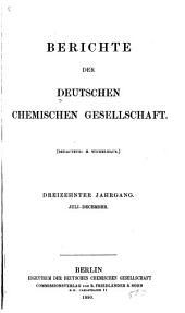 Berichte der Deutschen Chemischen Gesellschaft: Band 13