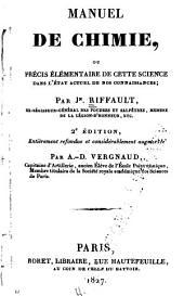Manuel de chimie; ou, Précis élémentaire de cette science dans l'état actuel de nos connaissances