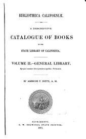 Bibliotheca Californiae: Volume 2