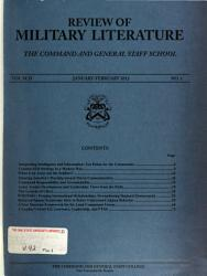 Professional Journal of the United States Army PDF