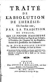 Traité de l'Absolution de l'Heresie