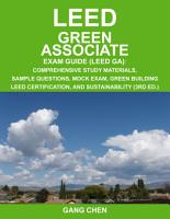 LEED GA Exam Guide  3rd Large Format Edition  PDF