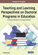 Teaching and Learning Perspectives on Doctoral Programs in Education PDF